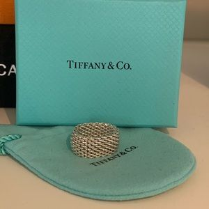 Tiffany Somerset Mesh Ring Size 5